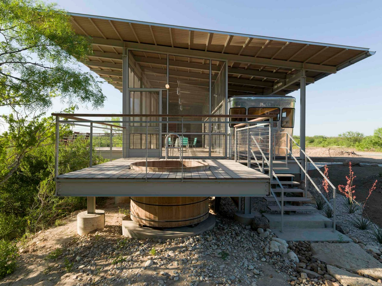 Original House Exterior Design Ideas. Texas Sultry Climate Reflected In The House  Construction With The