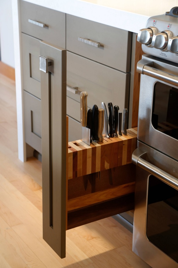 Most Original Kitchen Design Ideas 2016. Unusual form for the knives` storage
