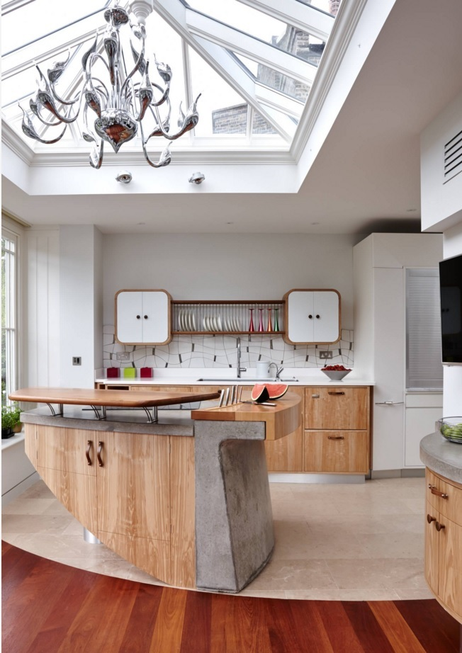 Most Original Kitchen Design Ideas 2016  Oval forms of the kitchen furniture Small