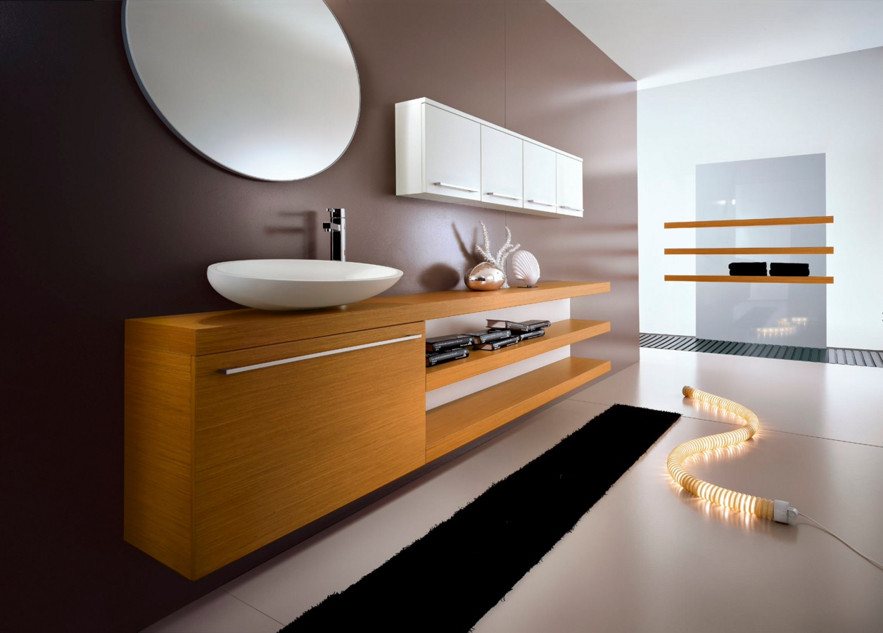 Bathroom Modern Interior Design Original Ideas. New oval trend in the forns of sink and mirror