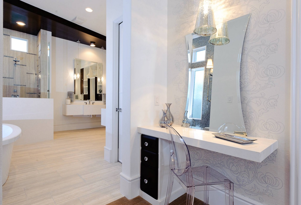 Bathroom Modern Interior Design Original Ideas. Nice alloy of the space to join hi-tech styled boudoir to the modern premise of bathroom