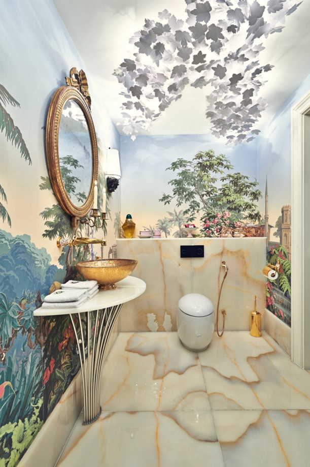 Bathroom Modern Interior Design Original Ideas. Charming Marine theme with painted walls