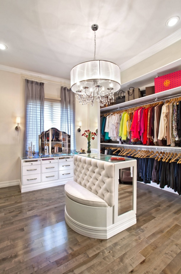Custom Closet & Shelves & Wardrobe Original Design. Royal decoration for the Art Nouveau styled area