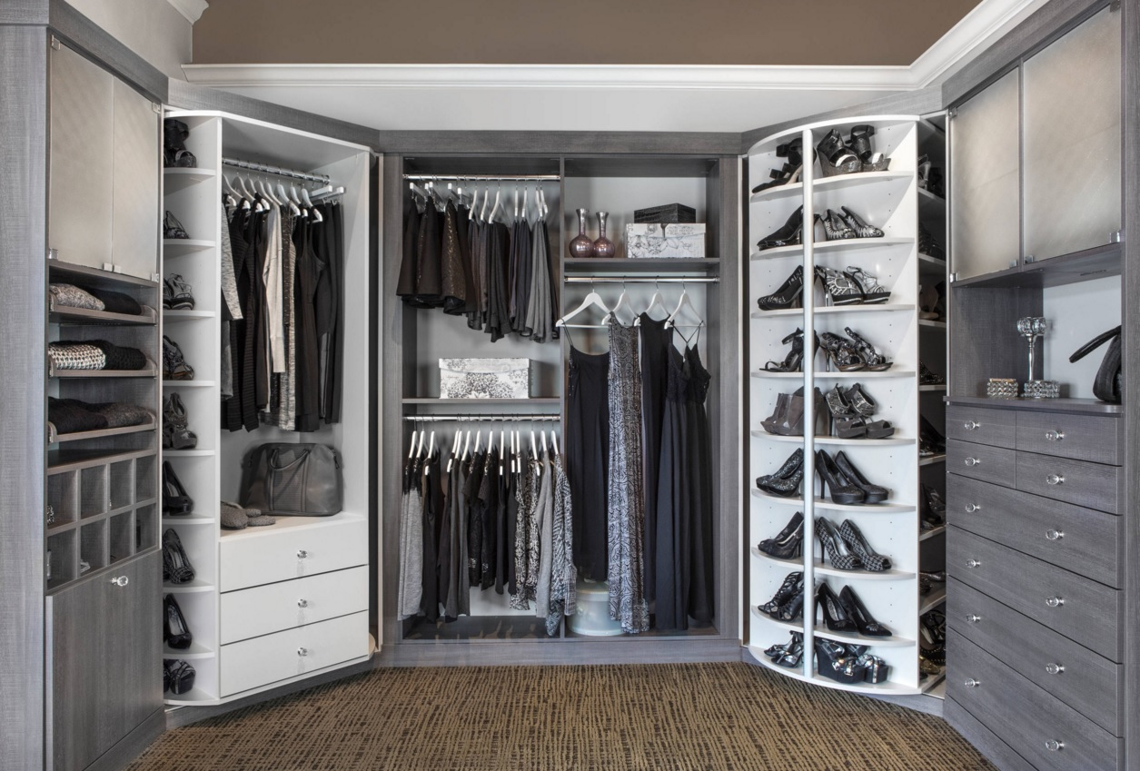 Custom Closet Shelves Wardrobe Original Design Nice Multifunctional For Mens