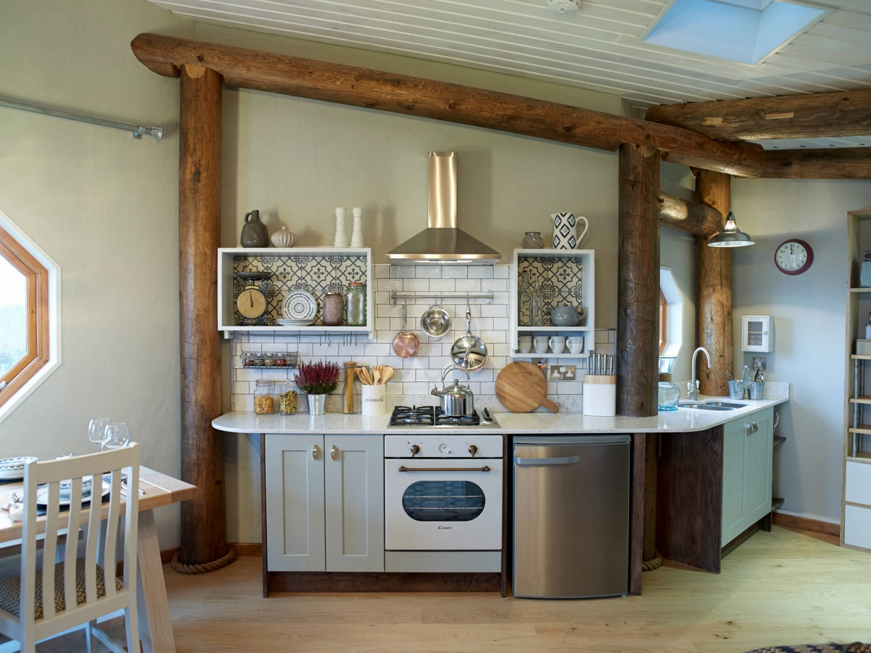 Most Original Kitchen Design Ideas 2016. Unexpected layout of the rustic kitchen