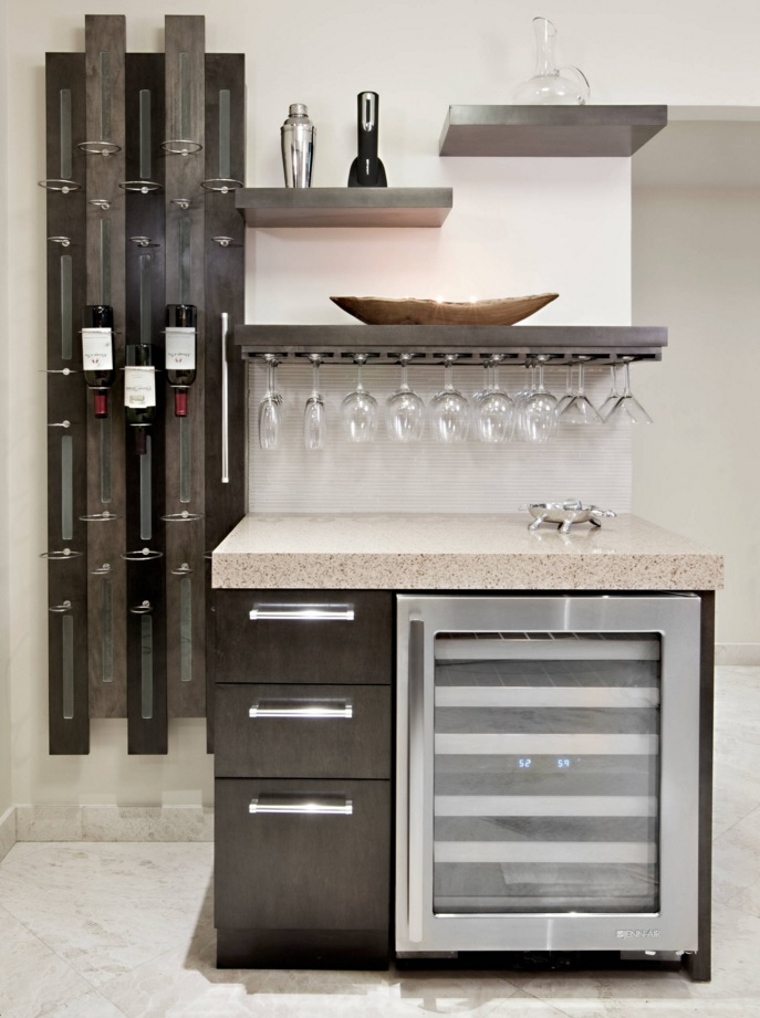 Most Original Kitchen Design Ideas 2016. Amazing storage system for the bottles and wineglasses