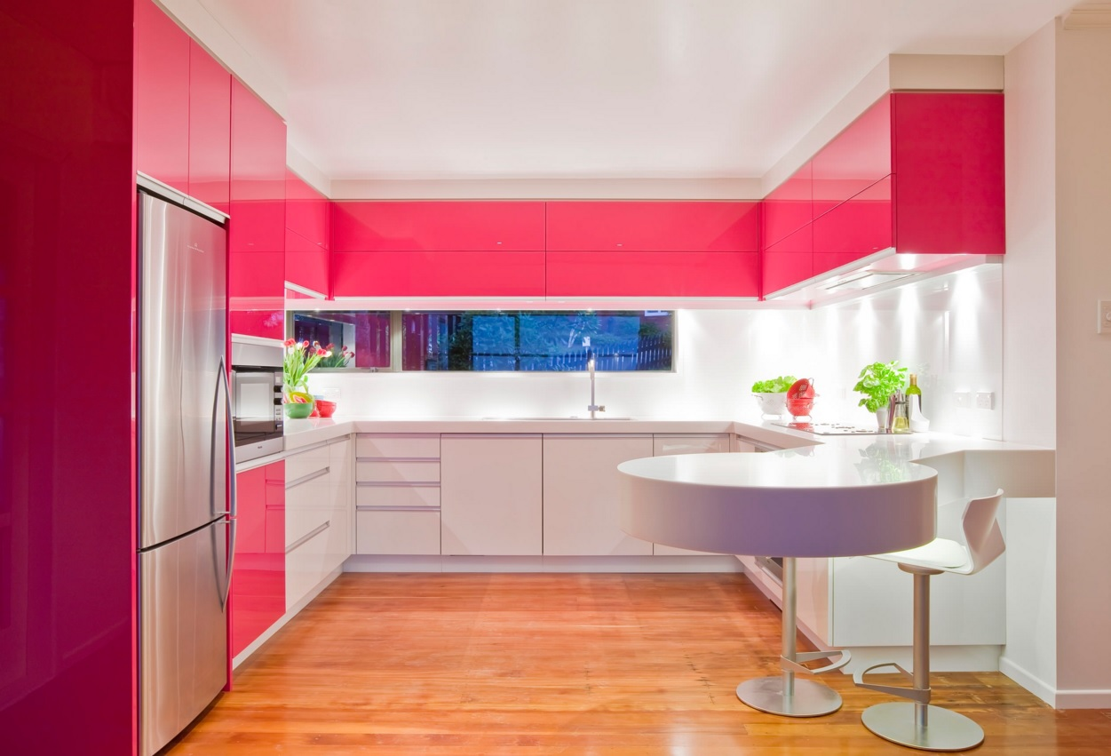 Most Original Kitchen Design Ideas 2016. Unique vivid interior decoration for the pink room