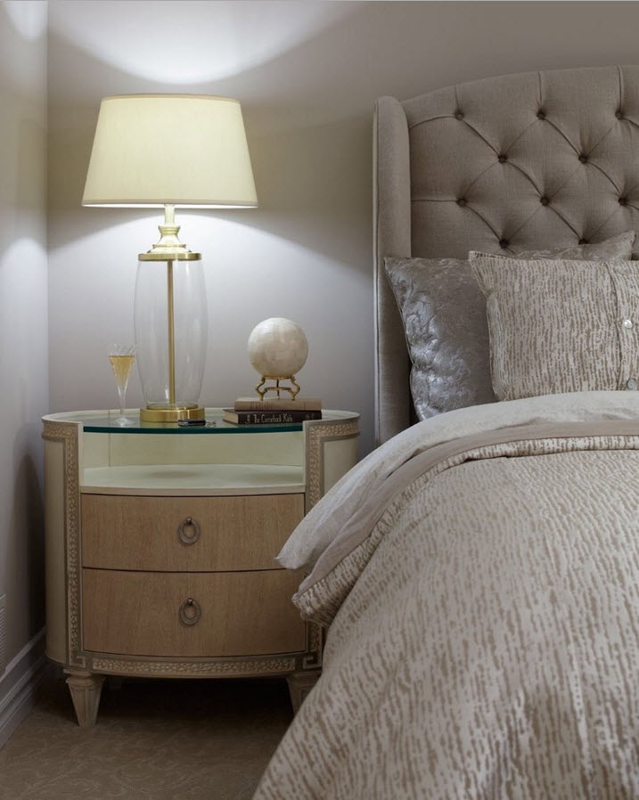 Modern Classics Private House Design Ideas. Bedroom with the soft headbaord of the bed