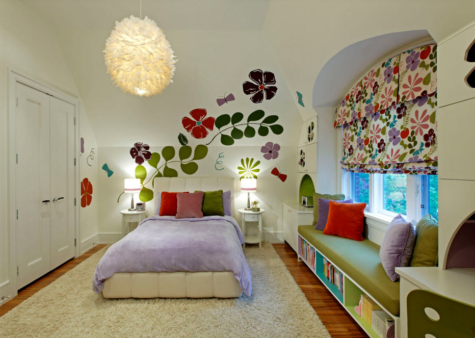 Exclusive Two-Storey House Design. Calming kid`s room arrangement