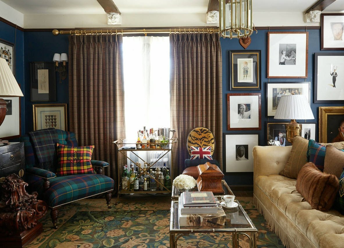 Living Room Curtains Design Ideas 2016. Enchanting Classic Interior With  British Styles Touches