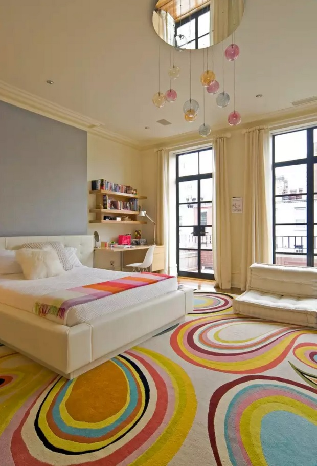 Unusual Bedroom Interior Design Ideas 2016. Kids` room with nicely decorated carpeting