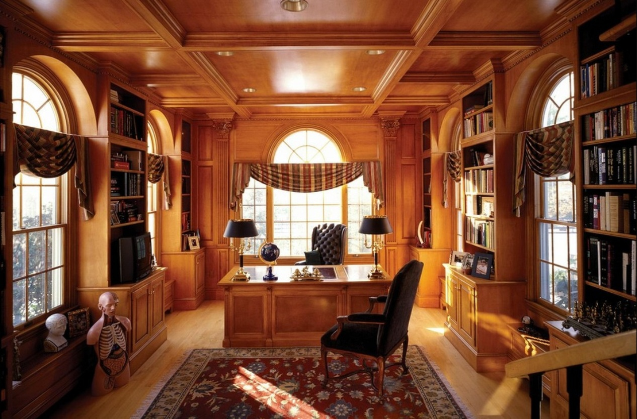 Top 15 Best Wooden Ceiling Design Ideas. Classic arrangements in the home office