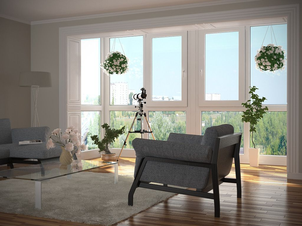 Modern Glazing for Balcony or Loggia. Nice place to rest