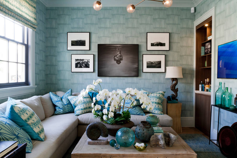 Light Blue And Green Living Room blue color decoration ideas for living room - small design ideas