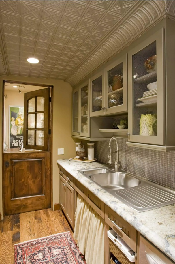 Choosing and Mounting the Ceiling Tiles. Kitchen example of nicely applied and designed ceiling