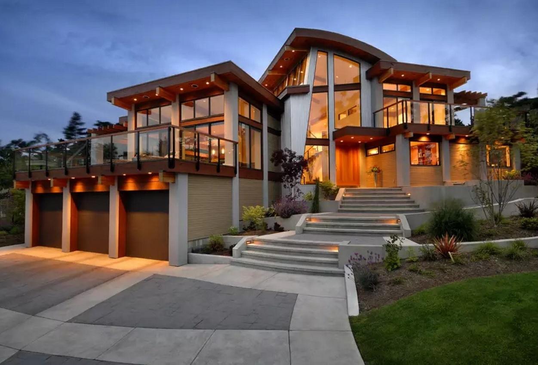 Original House Exterior Design Ideas. Perfectly Elaborated Outline Of The  Modern Original Three Storey Designer