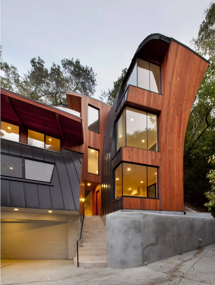Original House Exterior Design Ideas. Bent form of the gorgeous house