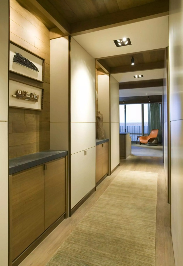 Top 20 Modern Unique Hallway Design Ideas. Nice built-in closet and cabinets in the hi-tech styled area