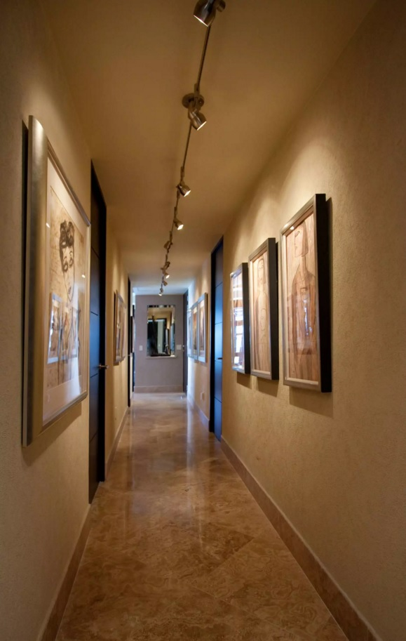 Top 20 Modern Unique Hallway Design Ideas. Unusual artificial lighting with the rotary mechanisms