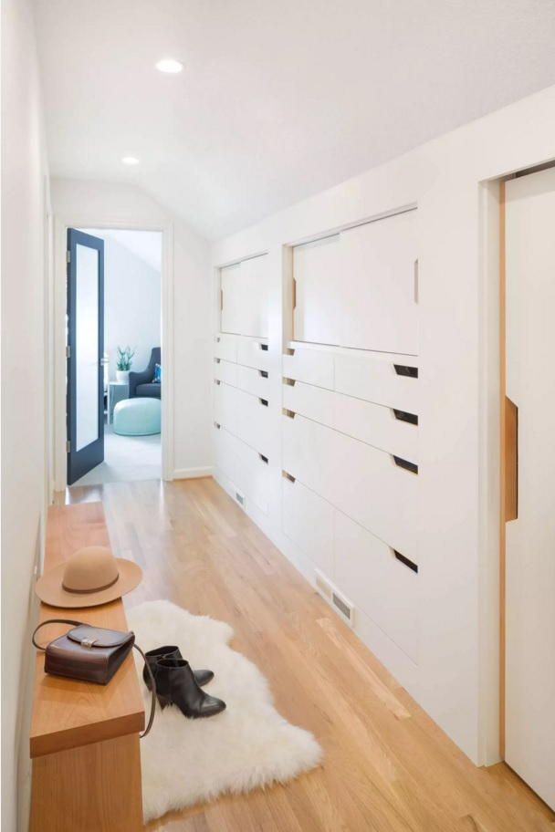 Top 20 Modern Unique Hallway Design Ideas. Perfect idea for the construction of hidden storage systems in the small hallway