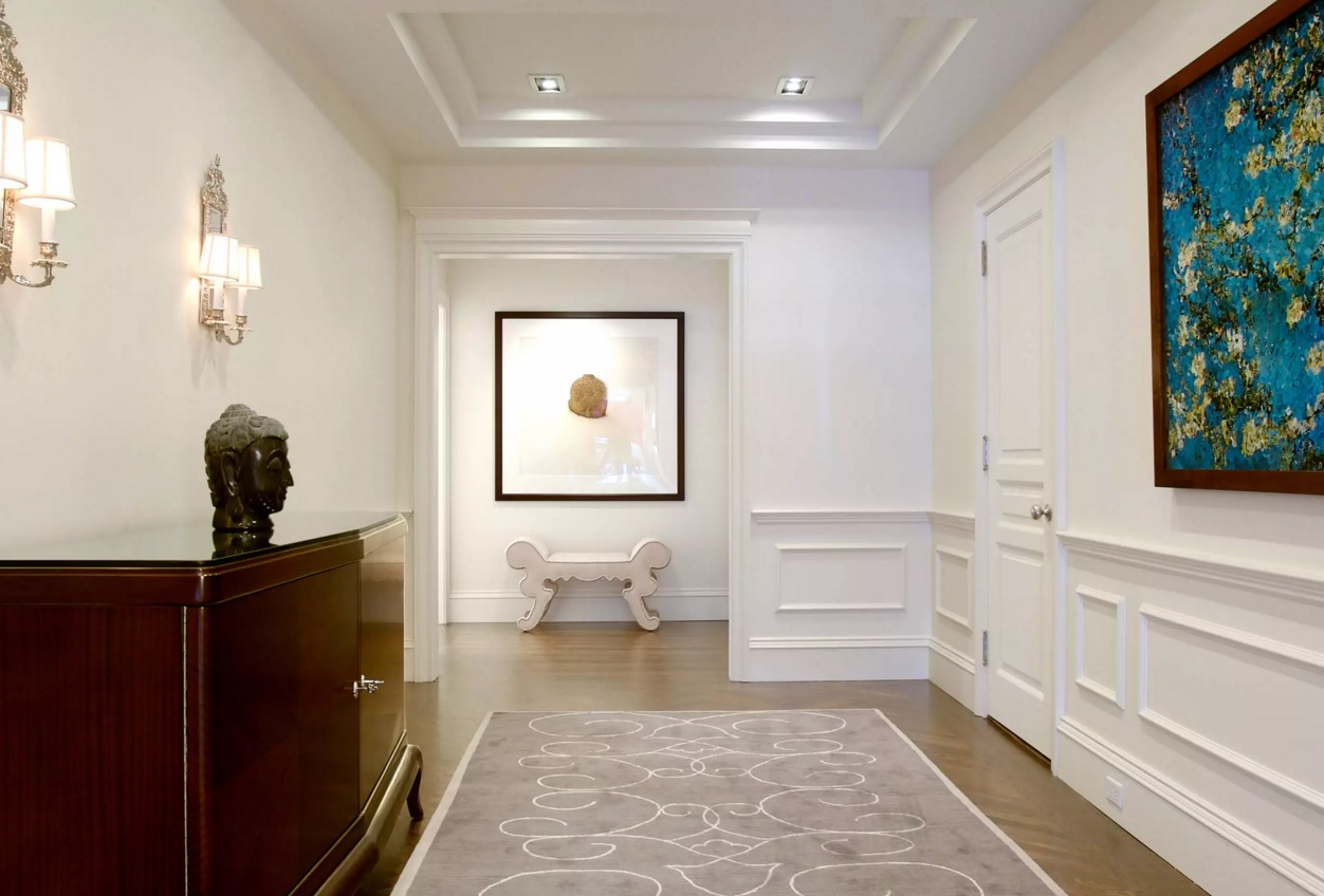 Top 20 Modern Unique Hallway Design Ideas. Pompous classic finishing of the spacious hall area & Top 16 Modern Unique Hallway Design Ideas - Small Design Ideas