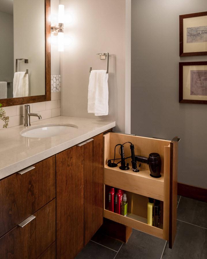 Nice shelf for the bathroom appliances