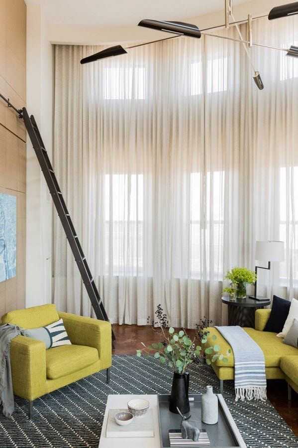 Living Room Curtains Design Ideas 2016. Translucent tulle lace drapes at the large windows