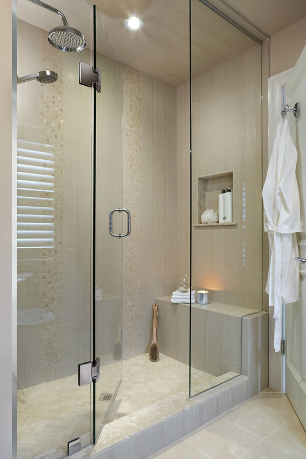 Modern Classics Private House Design Ideas. Glass doors in the bathroom
