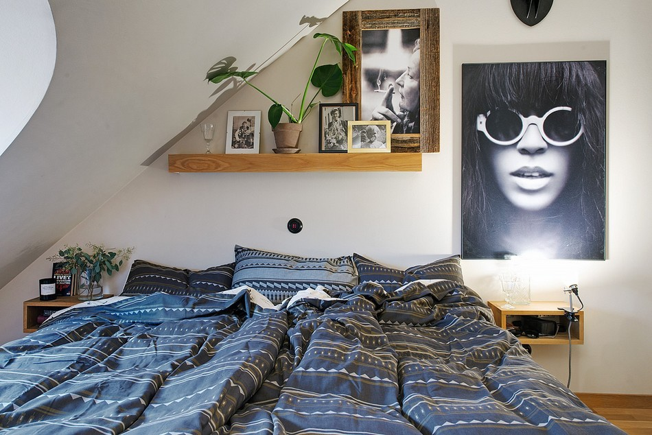 Swedish Private House Design Ideas Mix. Pop-Art notes in the bedroom