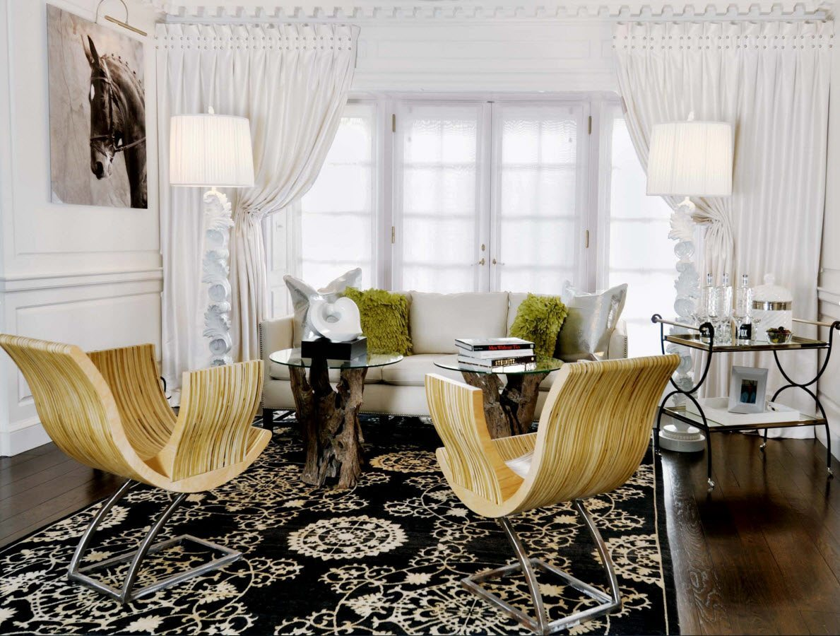 Living Room Curtains Design Ideas 2016 Original Of Chairs And The Table Stand In