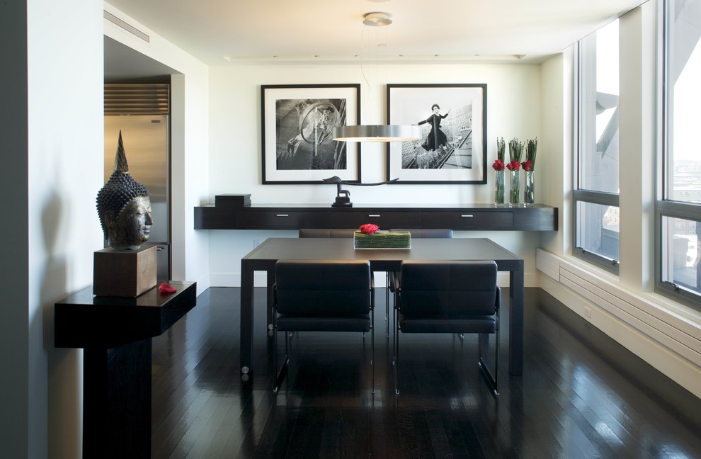 Black Furniture: Interior Design Photo Ideas. Oriental minimalism with touches of European pragmatism