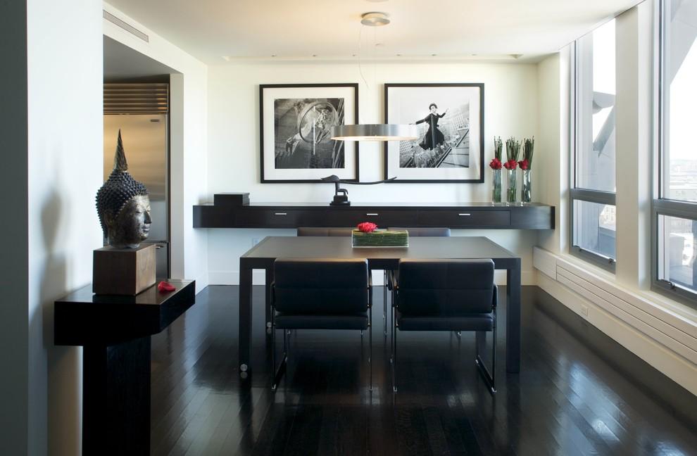 Black Furniture: Interior Design Photo Ideas. Oriental minimalism with touches of European pragmatism