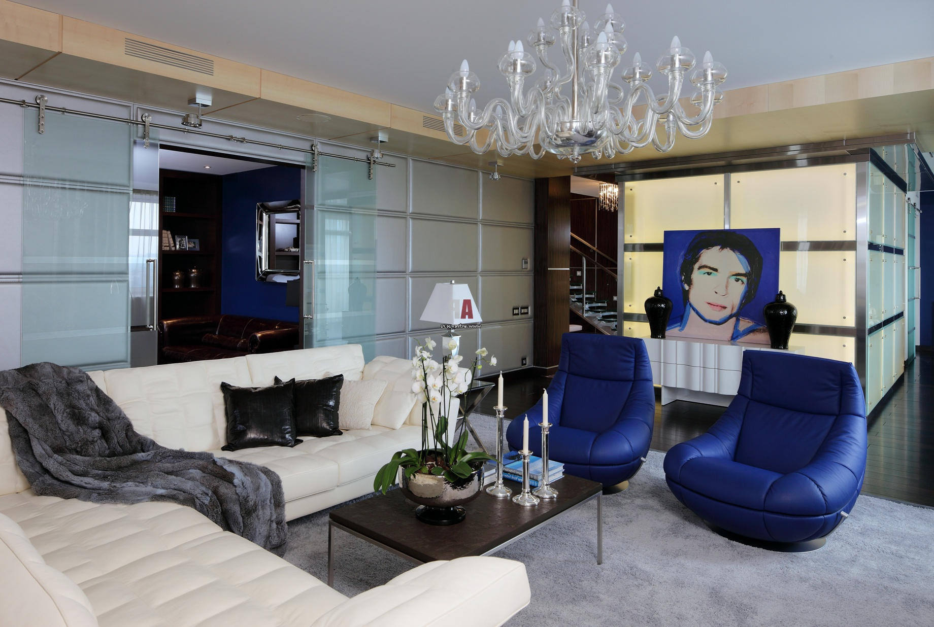 blue color decoration ideas for living room dark blue armchairs make the accent