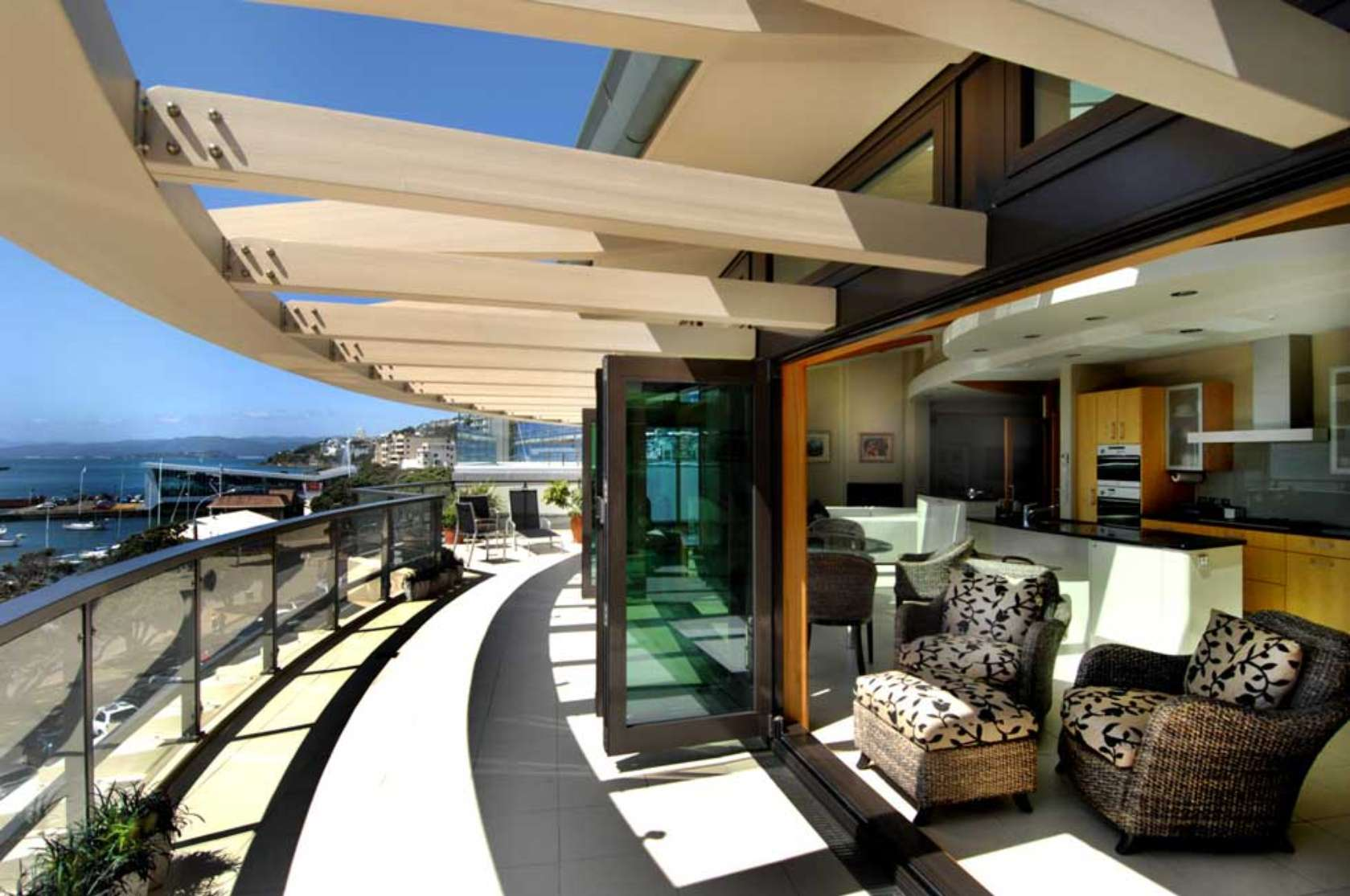Modern Balconies Interior Design Ideas. luxurious European style of the huge terrace design