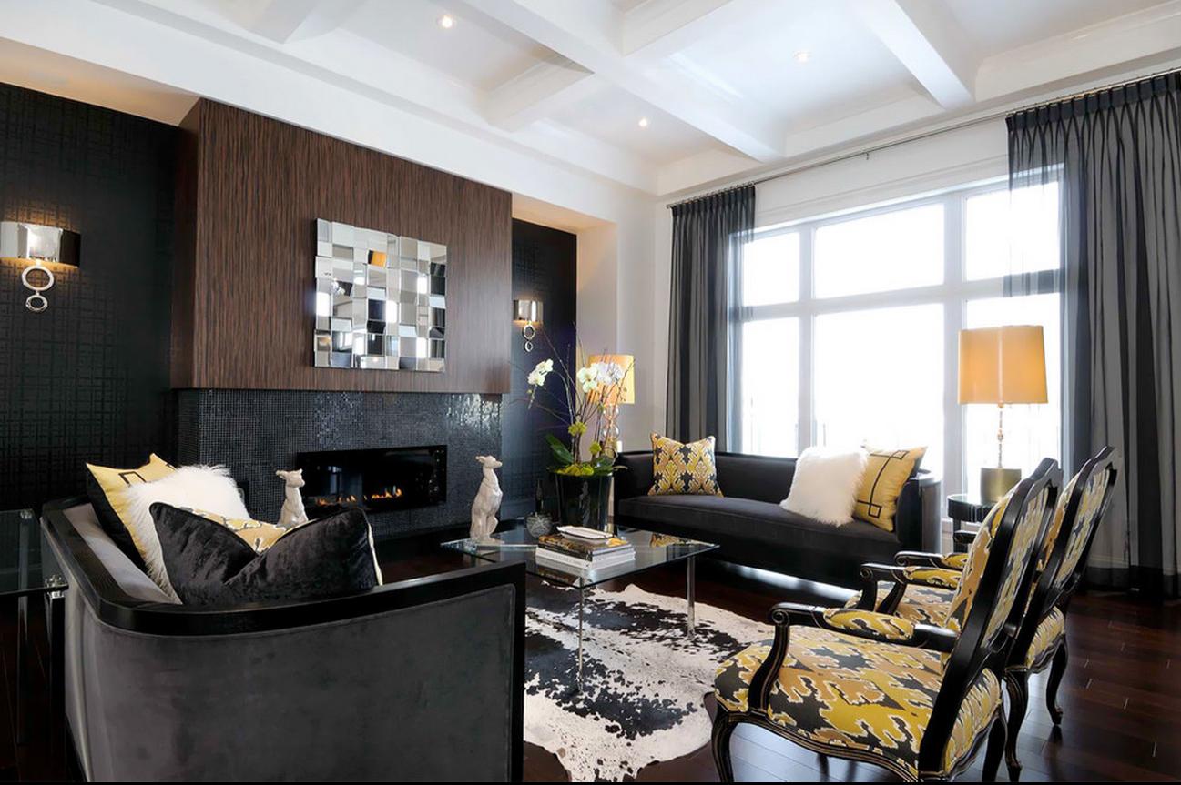 Black Furniture Interior Design Photo Ideas on Art Deco Living Room Ideas