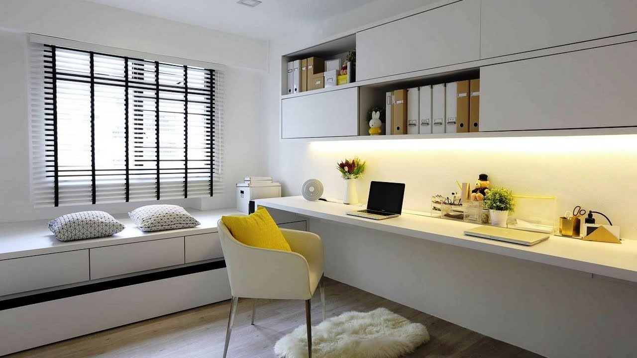 Apartments And Condos Design Projects 2016. White Design For The Personal  Home Office