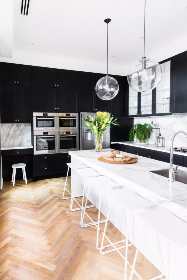Top Modern Kitchen Flooring Materials. Nice wooden Laminate
