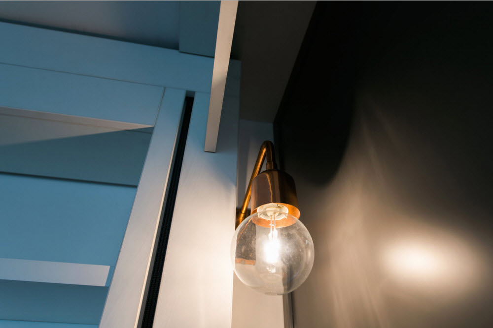 Hanging mere lamp as a designer's style