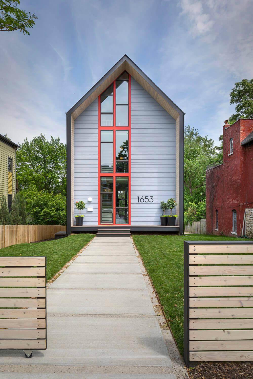 Bright Interior Design Ideas for Private House. Unusual exterior of the spectacular building