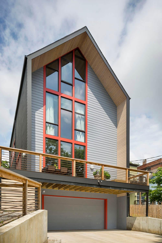 Bright Interior Design Ideas for Private House. Panoramic windows provide plenty of natural light