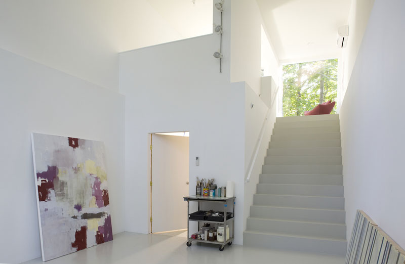 Cargo Container House Design Ideas. White finishing for the light roomy space