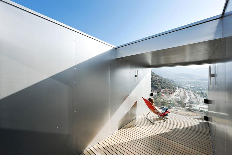 Cargo Container House Design Ideas. Absolutely unique form of the white shipping blocks in the mountains