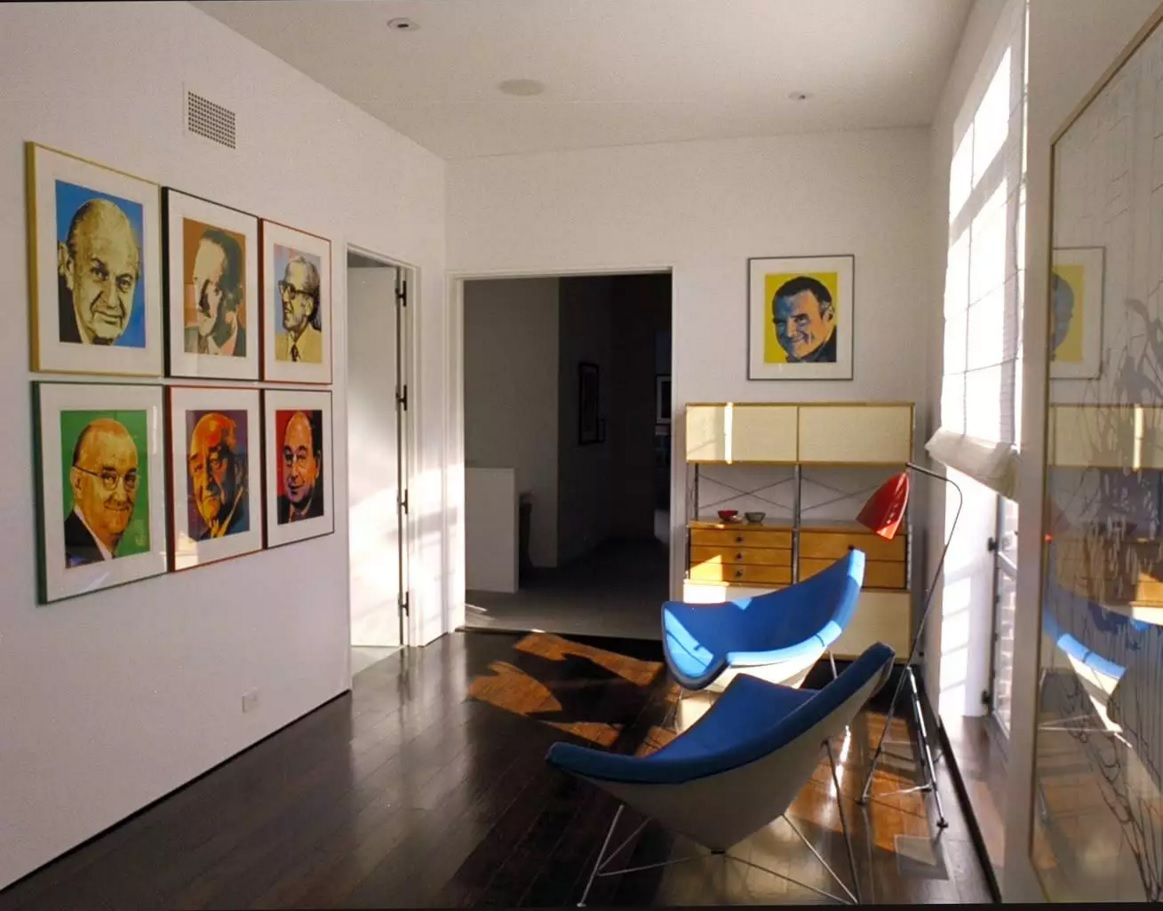 Pop Art Interior Design Style. Passage in the apartment