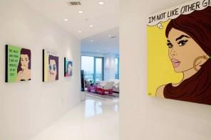 Pop Art Interior Design Style. Large hallway