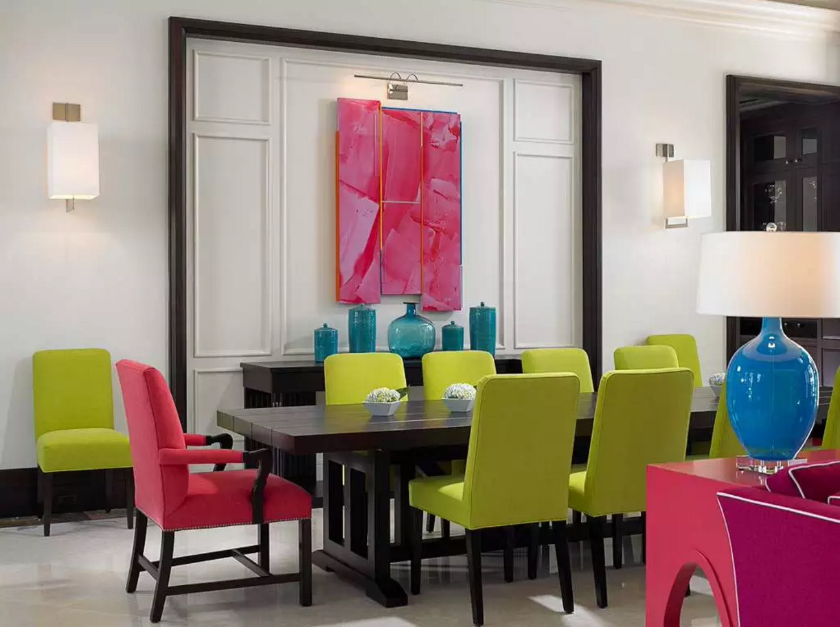 Pop And Funk Design In The Small Dining Room