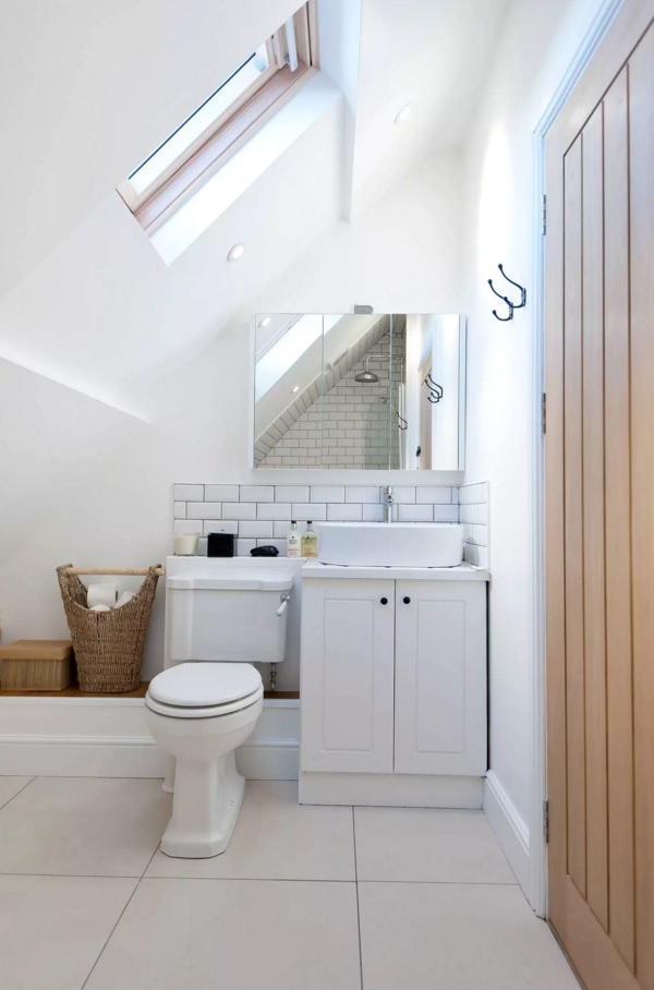 Small Bathroom Creative Remodel Ideas. Loft area image in white