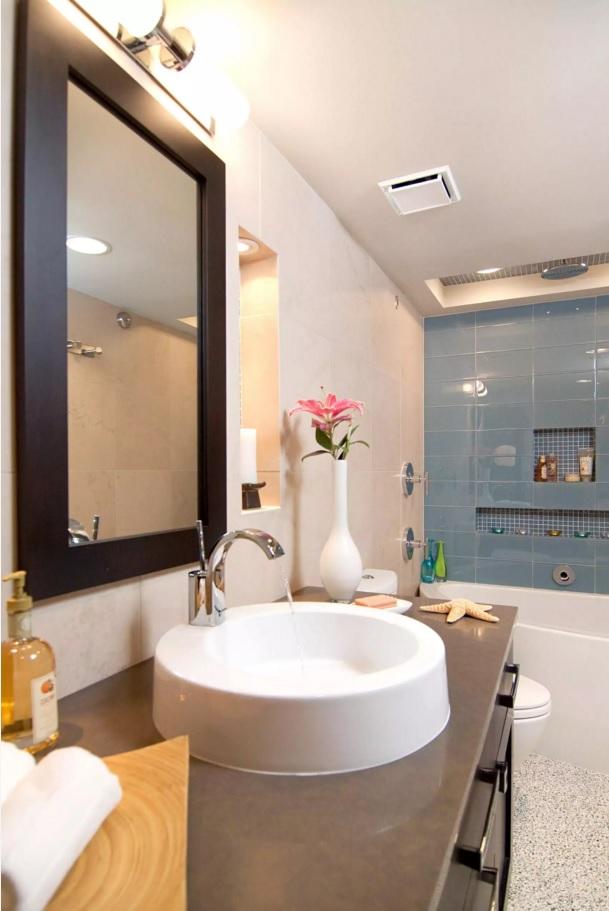 Small Bathroom Creative Remodel Ideas. Slight tint to the Marine style