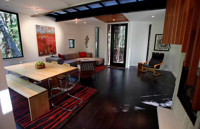 Cargo Container House Design Ideas. Nice living room interior