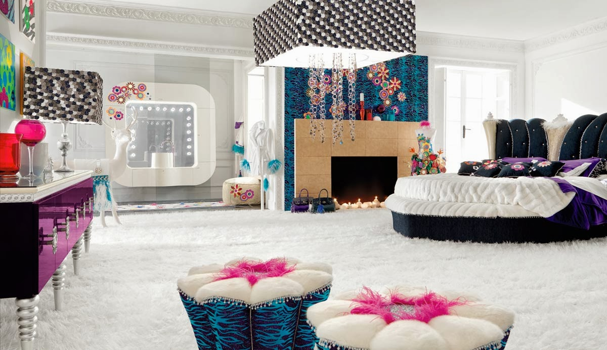 Kitsch Interior Design Style. tender calming decoration in the cool white space