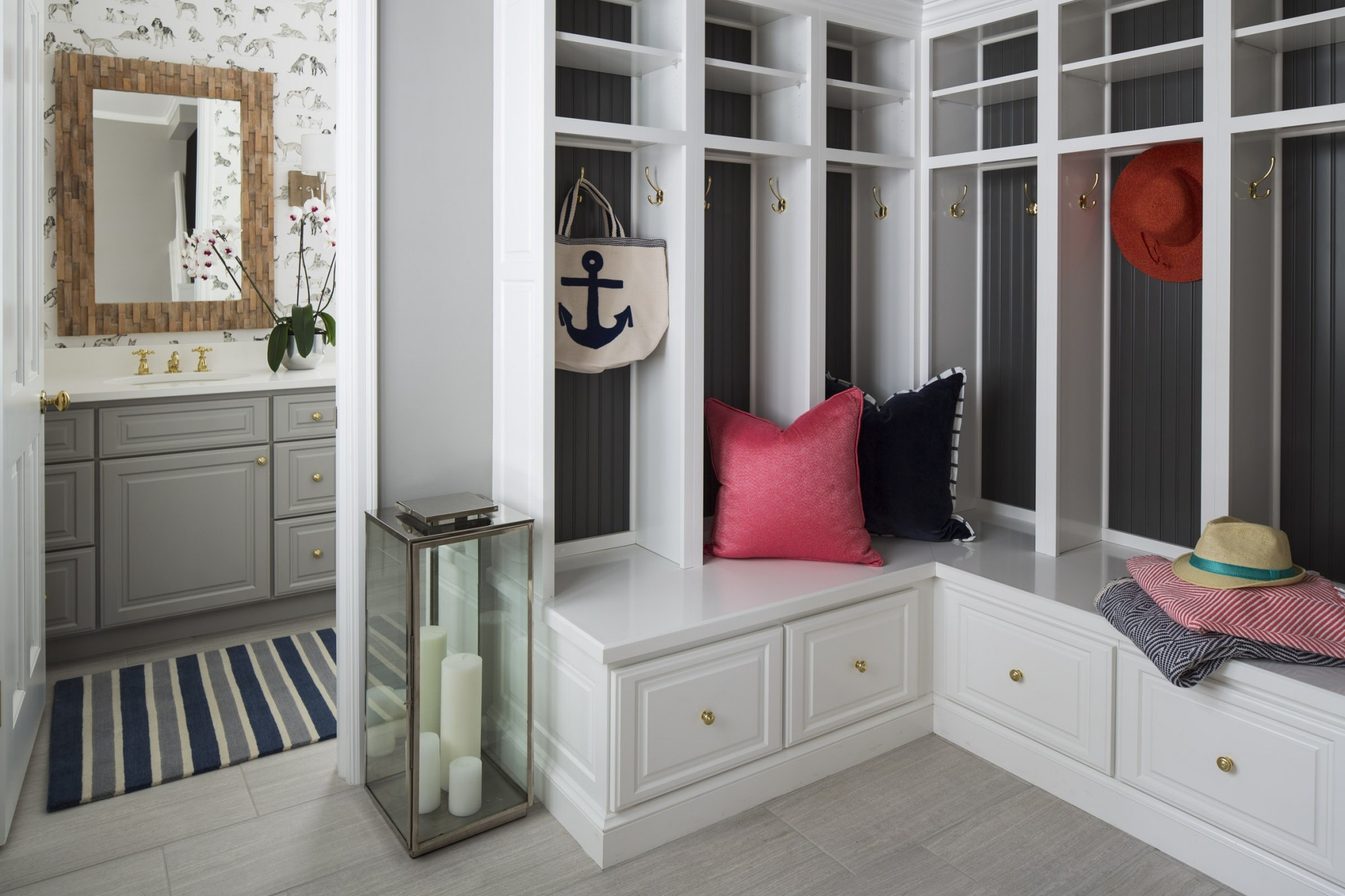 White trimmed classic lobby